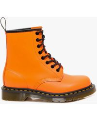 Dr. Martens - Dr. Martens 1460 Smooth Leather Womens Orange Boots - Lyst