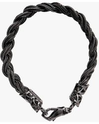 Emanuele Bicocchi Black Silver Bracelet