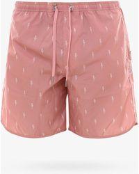Neil Barrett Swim Trunks - Pink