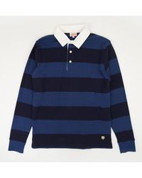 Armor Lux - Striped Cotton-jersey Polo Shirt - Lyst
