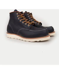 Red Wing - Classic Moc Mens Navy Boots - Lyst
