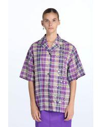 N°21 Chemise à carreaux - Violet