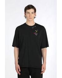 N°21 T-shirt con spille - Nero