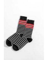 N°21 Striped Crew Socks - Black