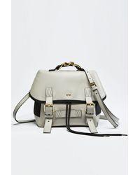 N°21 Chunky Chain-embellished Logo Backpack - Gray