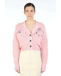 N°21 Embellished Cardigan - Pink