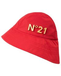 N°21 Logo Bucket Hat - Red