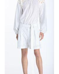 N°21 Logo-print Belted Bermuda Shorts - White