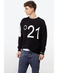 N°21 No21 Logo Embroidered Jumper - Black