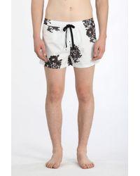 N°21 - Floral-print Swim Shorts - Lyst