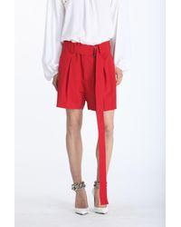 N°21 Belted Bermuda Shorts - Red