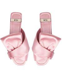N°21 Bow-embellished Slides - Pink