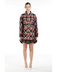 N°21 Oversized Checked Shirt Dress - Orange