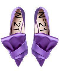 N°21 Bow-embellished Pumps - Purple