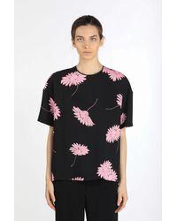 N°21 Floral-print Blouse - Black