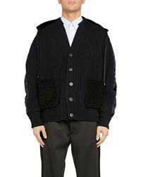N°21 Wool and nylon cardigan - Noir
