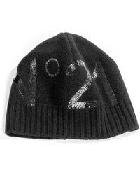 N°21 Bonnet en maille à logo - Noir
