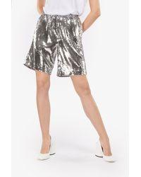 N°21 Sequin-embellished Shorts - Metallic