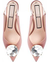 N°21 Crystal-embellished Slingback Pumps - Pink