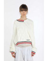 N°21 Maglione asimmetrico - Bianco