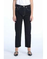 N°21 Jeans cropped a gamba dritta - Nero