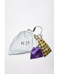 N°21 Tris Logo-print Drawstring Bag - White