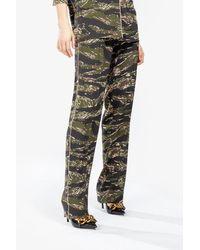 N°21 - Camouflage-print Wide-leg Pants - Lyst