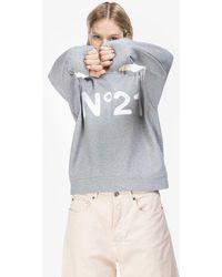 N°21 Sweat à logo imprimé - Gris