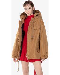 N°21 Hooded Parka Coat - Brown