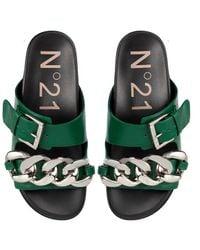 N°21 Sandali con catena oversize - Verde