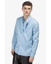 N°21 Deconstructed-collar Shirt - Blue