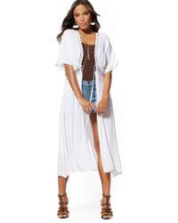 New York & Company - Lace-trim Kimono Duster - Lyst
