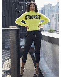 "New York & Company Chartreuse ""stronger"" Sweater - Gabrielle Union Collection - Multicolor"