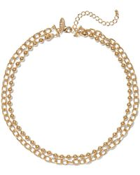 New York & Company Gold Chain-link Necklace - Metallic