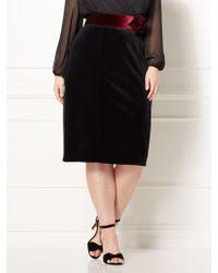 6156f19337dbd New York   Company - Eva Mendes Plus Collection - Emma Velvet Skirt - Eva  Mendes