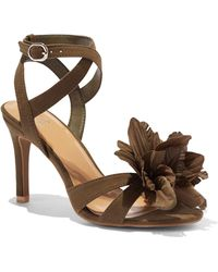 New York & Company - Floral Faux-suede Sandal - Lyst