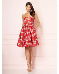 New York   Company - Eva Mendes Collection - Lily Strapless Dress - Lyst 1b33a4aad