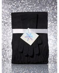 New York & Company - 2-piece Textured-knit Scarf & Gloves Gift Set - Lyst