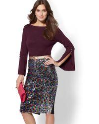 New York & Company - 7th Avenue - Bateau-neck Sweater - Lyst