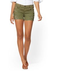 New York & Company - 4 Inch Destroyed Short - Lyst