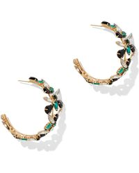 New York & Company - Jeweled Goldtone Hoop Earring - Lyst