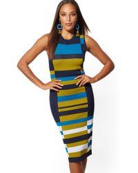 New York & Company - Colorblock Sweater Sheath Dress - Lyst