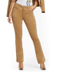 New York & Company High-waisted Flare Jeans - Corduroy - Camel - Natural