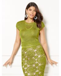 New York & Company - Eva Mendes Collection - Gina Crochet Crop Top - Lyst