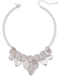 New York & Company - Hammered Metal Statement Necklace - Lyst