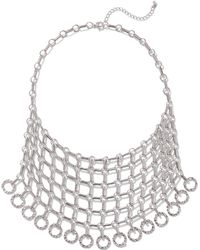 New York & Company - Chain-link Bib Statement Necklace - Lyst