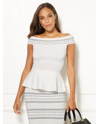 65fd0bade4b New York & Company - Aimee Off-the-shoulder Top - Eva Mendes Collection