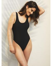 New York & Company Scoopback One-piece Swimsuit - Black