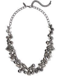 New York & Company - Gunmetal Beaded Statement Necklace - Lyst