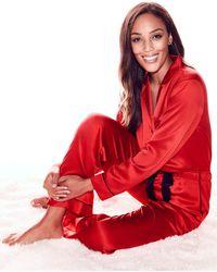New York & Company - Piped Satin Pajama Set - Lyst